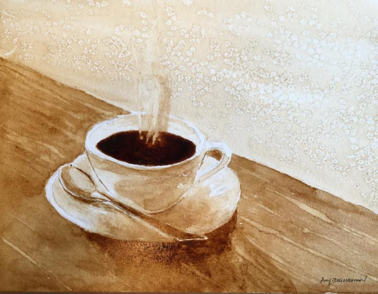 Coffee watercolor workshop with amy beidleman explore for Coffee watercolor